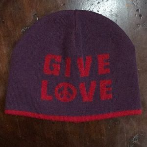Lucky* *Give Love* Beanie Hat Reversible